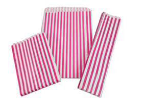 Candy/Sweet Bags - striped - 177mm